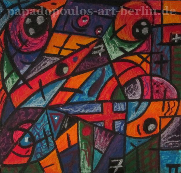 Gefühl, Abstrakt, Pastellmalerei, Formen, Farben, Bunt