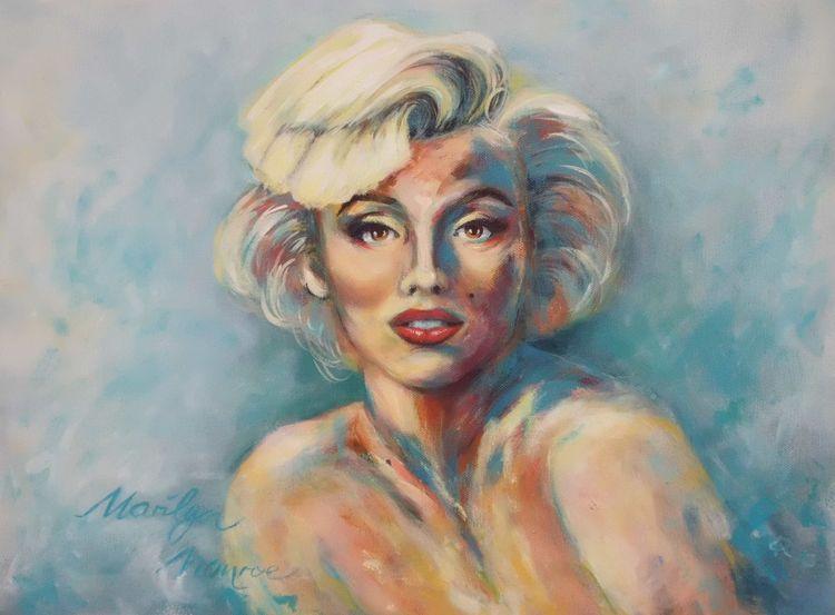 Abstraktes portrait, Portrait, Malerei