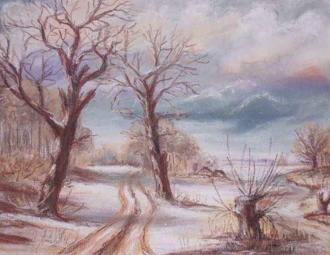 Wintermorgen, Zeichnungen