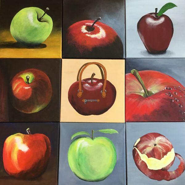 Apfel, Rotbäckchen, Äpfelchen, Obst, Grün, Vitamin