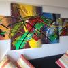 Abstrakt, Gemälde, Malerei,