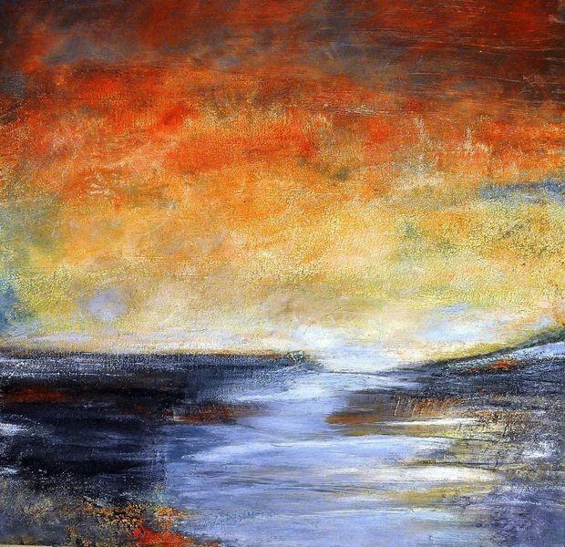 Landschaft, Blau, Himmel, Abstrakt, Horizont, Struktur