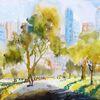 Natur, Baum, Park, Wolkenkratzer