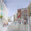 Menschen, Frankreich, Fußgängerzone, Altstadt