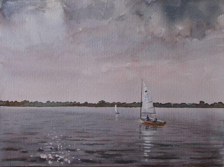See, Natur, Segelboot, Himmel, Gewässer, Landschaft