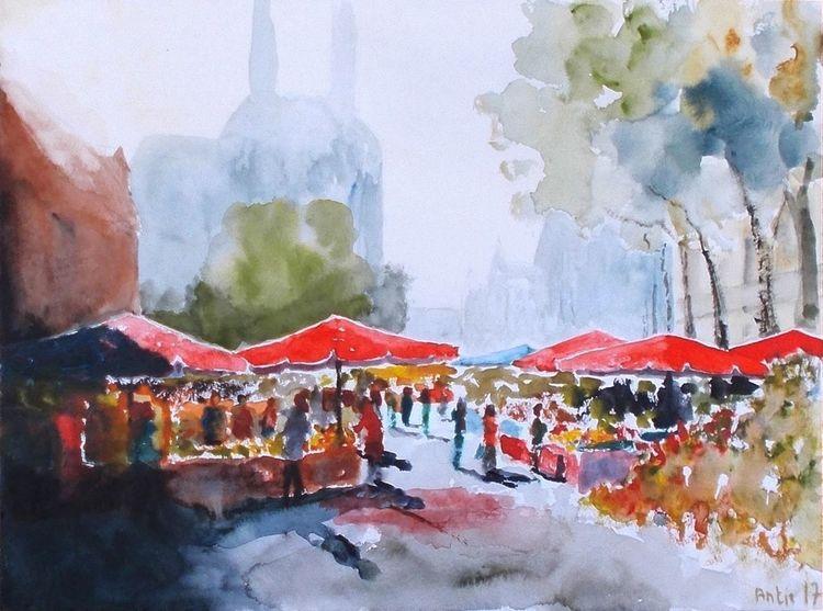 Dom, Stadt, Gebäude, Wochenmarkt, Menschen, Kathedrale