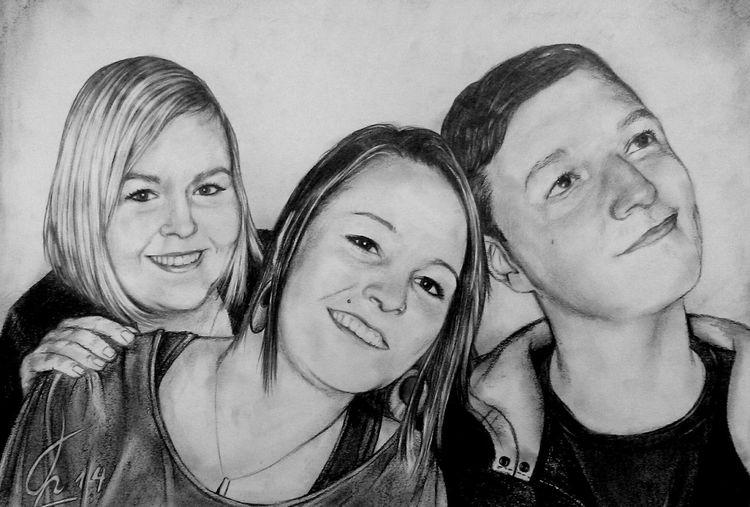 Schwestern, Geschwister, Familie, Bruder, Zeichnungen