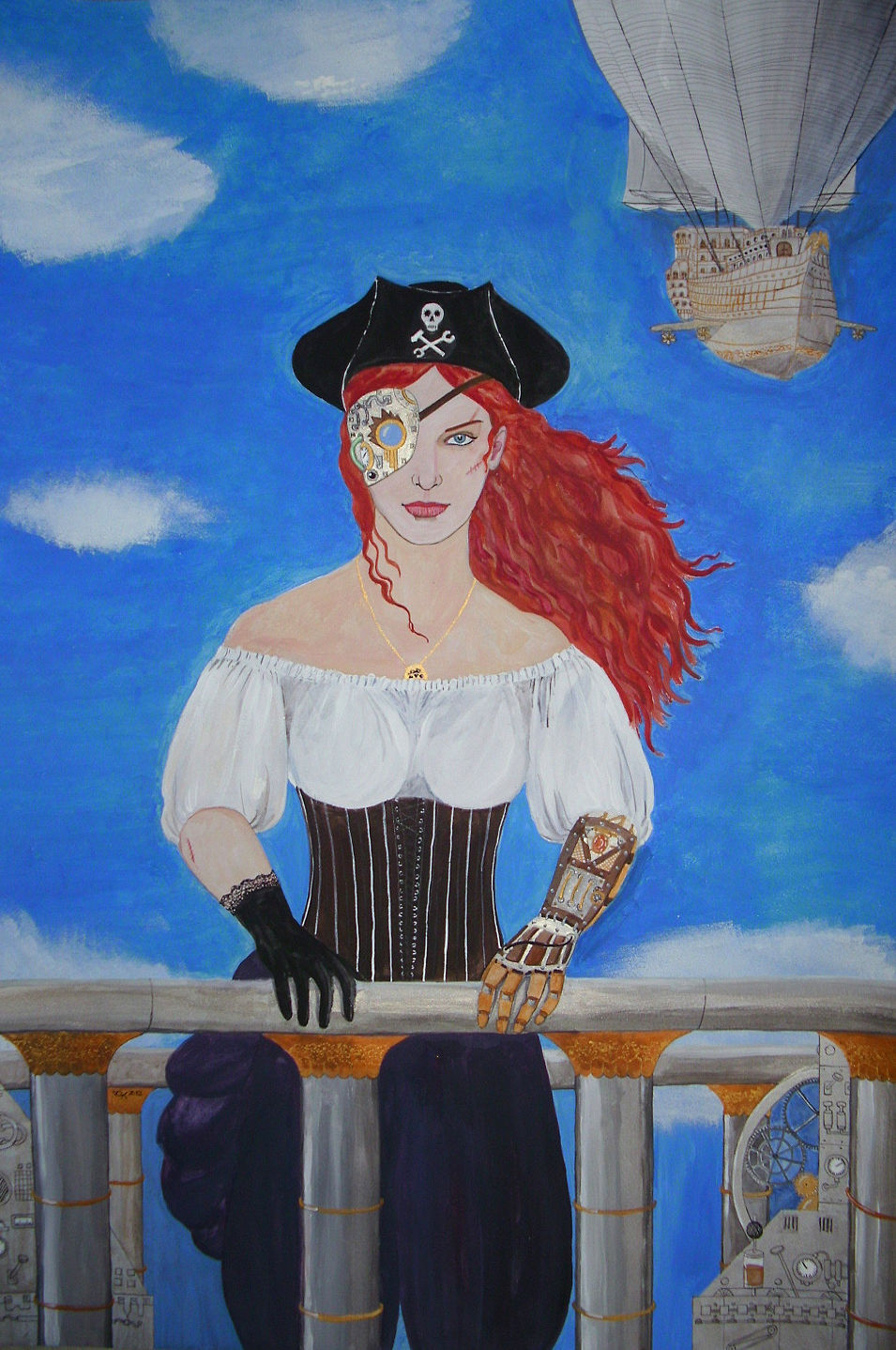 Sky pirate Lady captain - ein vom Steampunk inspiriertes Bild - Amalia ...