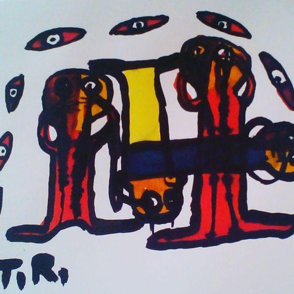 Augen, Hände, Menschen, Malerei