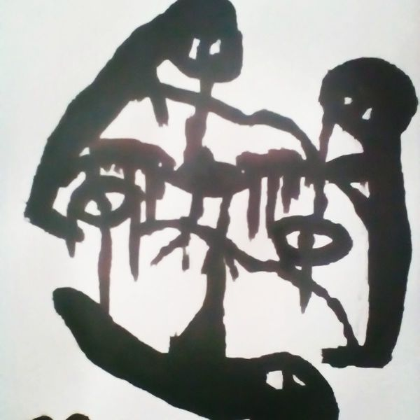 Menschen, Schmerz, Hände, Malerei