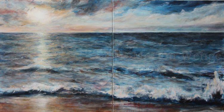 Licht, Malerei, Meer, Küste, Wasser, Stimmung