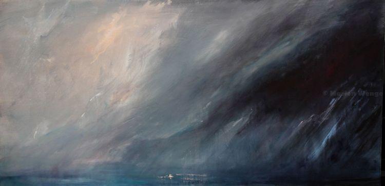 Wolken, Himmel, Regenstimmung, Meer, Malerei