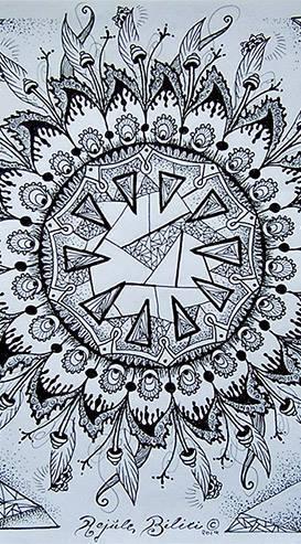 Mandala, Spirituell, Blumen, Schwarzweiß, Blüte, Kreis