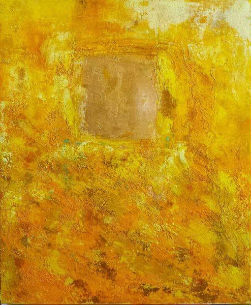 Experimentell, Acrylmalerei, Abstrakt, Sand, Licht, Wärme