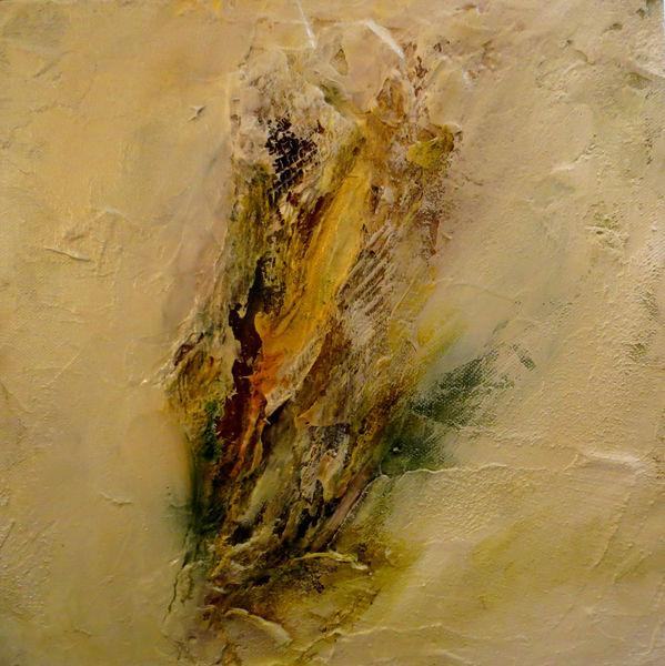 Weiß, Sand, Dynamik, Tusche, Orange, Strukturpaste