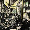 Café, Frankreich, Nacht, Malerei