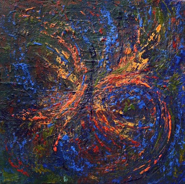 Impulsiv, Kokon, Abstrakt, Expressionismus, Malerei,