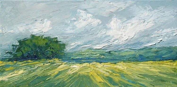 Sommer, Wiese, Panorama, Dönberg, Feld, Wolken