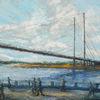 Düsseldorf, Rhein, Acrylmalerei, Brücke