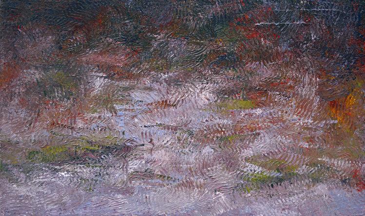 Teich, Tümpel, Herbst, Spiegelung, Nachmittag, Wasser