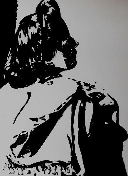 Malerei, Acrylmalerei, Portrait, Meister,