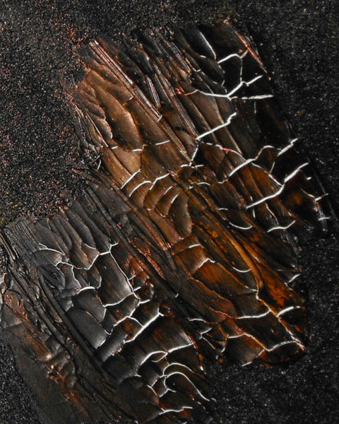 Schwarz, Struktur, Abstrakt, Mischtechnik, Malerei, Rost