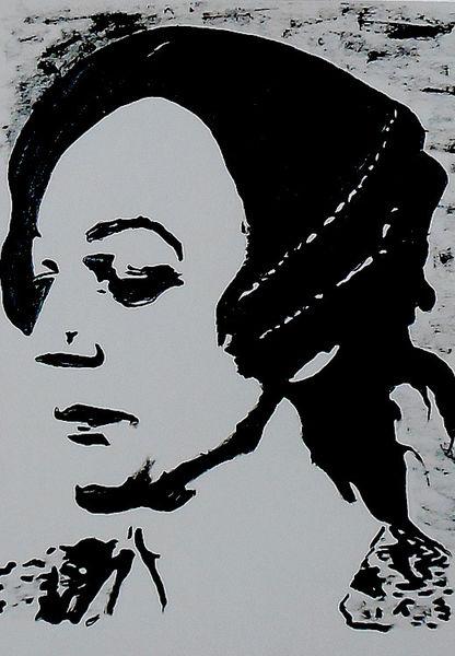 Portrait, Acrylmalerei, Casanova, Donald sutherland, Fellini, Malerei