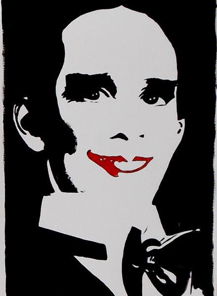 Joel grey, Acrylmalerei, Portrait, Malerei, Kabarett, Schauspieler