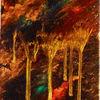 Abstrakte malerei, Acrylfarben, Malerei
