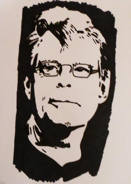 Stephen king, Malerei, Portrait, Kind
