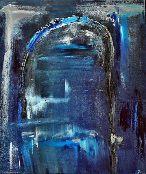 Durchgang, Tunnel, Blau, Dunkel, Abstrakt, Tor
