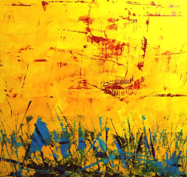Bunt, Abstrakt, Warm, Sommer, Malerei,