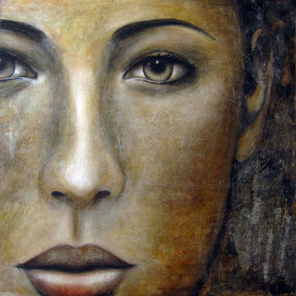 Gold, Gesicht, Schwarz weiß, Braun, Augen, Kohlezeichnung