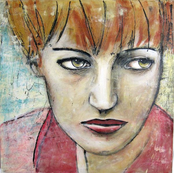 Blick, Augen, Ausdruck, Rot, Malerei