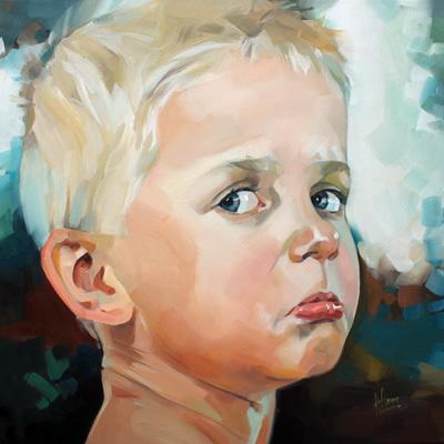 Junge, Kinder, Kinderportrait, Malerei