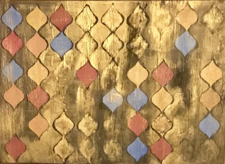 Muster, Gold, Orient, Bunt, Malerei