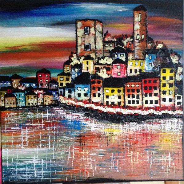 Malerei, Bunt, Stadt