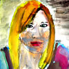 Gesicht, Aquarellmalerei, Malerei,