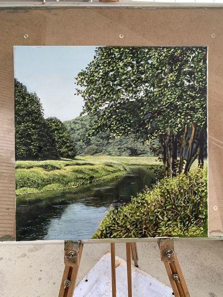 Idyl, Baum, Stimmung, Landschaft, Natur, Fluss