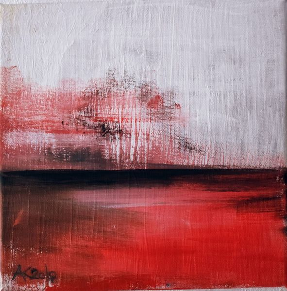 Meer, Landschaft, Rot, Baum, Abstrakt, See