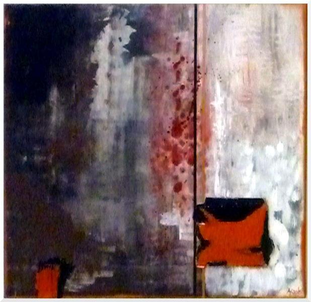 Kupfer, Braun, Wellpappe, Abstrakt, Malerei