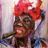 Frau, Rum, Havanna, Portrait