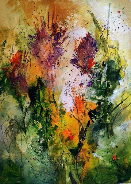 Halm, Blüte, Samen, Gras, Biene, Blumen