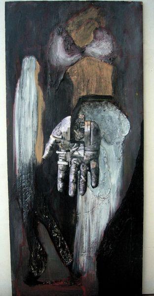 Weiß, Acrylmalerei, Collage, Rot schwarz, Mischtetechnik, Malerei