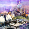Frankreich, Stadtlandschaft, Saint augustin, Zeitgenössisches aquarell