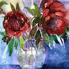 Blüte, Aquarellmalerei, Blumen, Rose