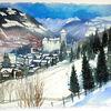 Österreich, Zell am see, Schnee, Berge