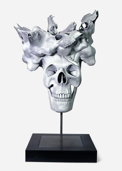 Kopf, Clay, Schädel, Tiere, Skulptur, Groteske