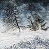 Schneelandschaft, Reiter im schnee, Pferde, Weisse wanderer
