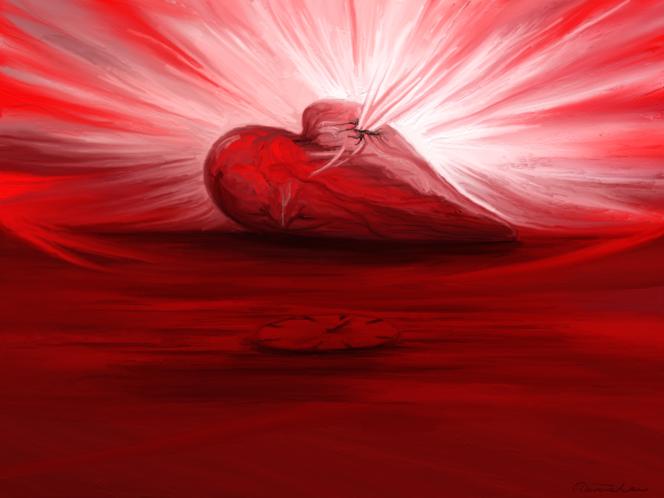 Gefühl, Sinn, Herz, Fantasie, Zeit, Rot